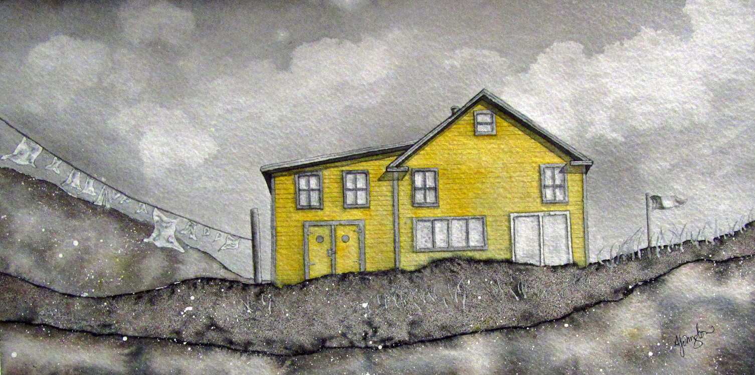 Yellow House in Grey (Exploits Island)