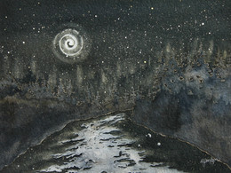 I Sit By the River Under Starlit Sky