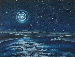 I Sit By the Bay Under Starlit Sky