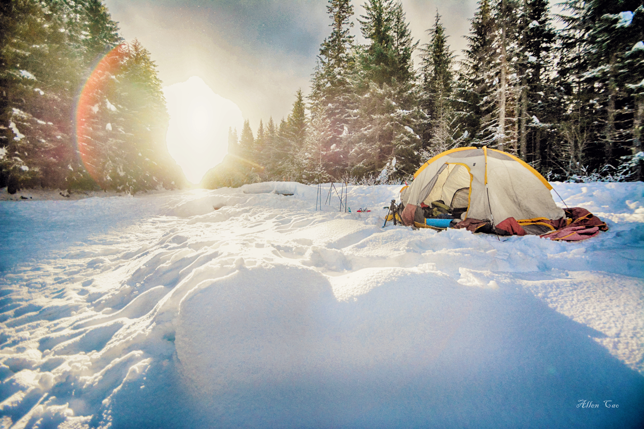 Winter Camping, Mt Hood