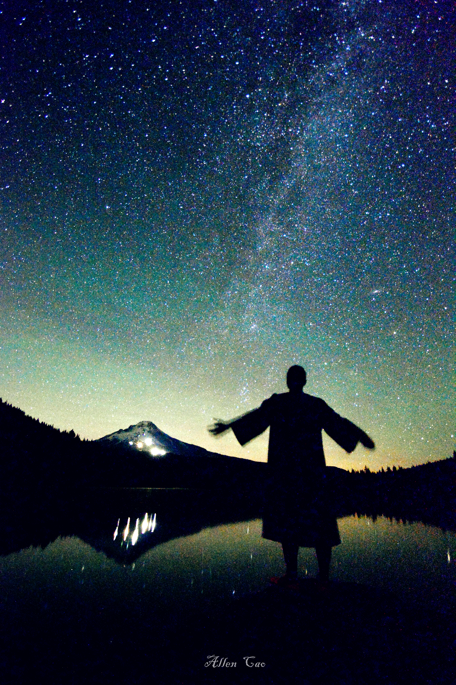 Milky Way, Trillium Lake