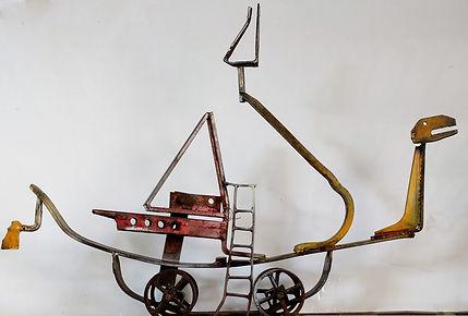 Toy Boat  Ralph Tikerpae Recycled metal