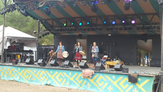 Trio Luna on the Meadow Stage at Shakori's Morning Communion