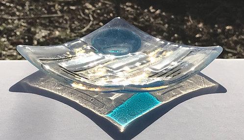Trinket Dish - Blue, White & Opaline