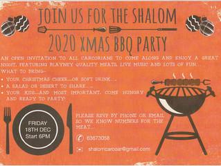 2020 SHALOM XMAS BBQ PARTY