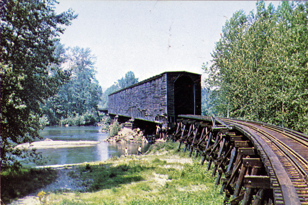 Covered Railroad Bridge in Monroe