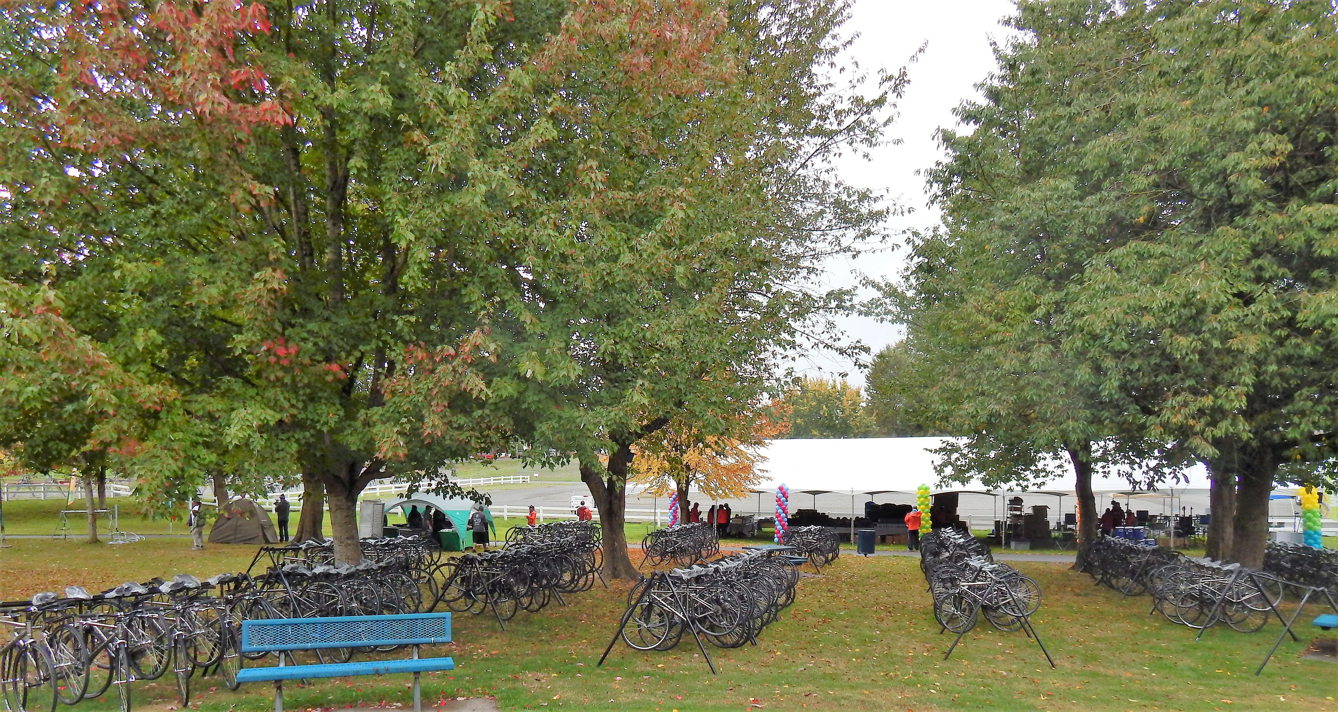 Bike Setup Tent