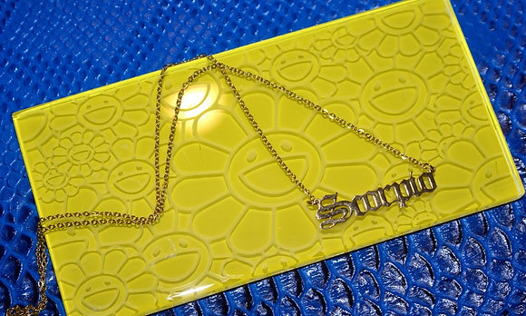Truth Collection/ SCORPIO Nameplate Necklace