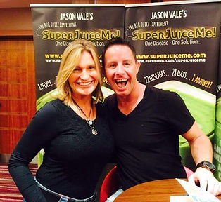 Jason Vale and Joanne Glas