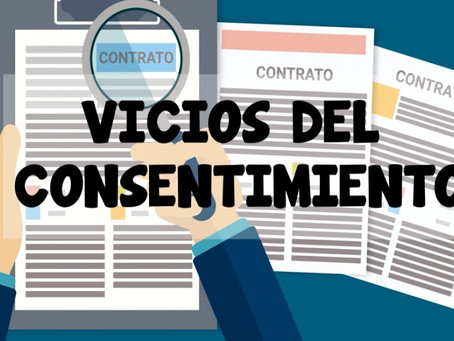 El vicio en el consentimiento. #contratos #consentimiento #nulo #error #daciónenpago