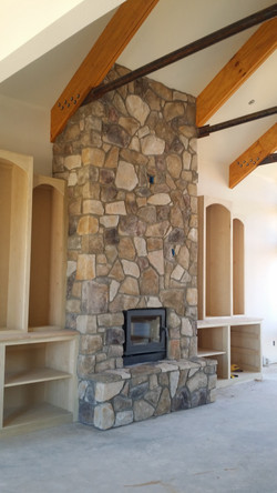 Random Stone Fireplace Winnsboro