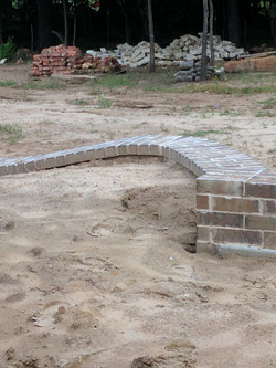 Backside of retaining wall