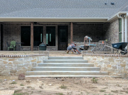 retaining wall and outdoor Kitchen