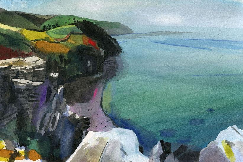 Valley of Rocks, Exmoor, Original Watercolour Painting
