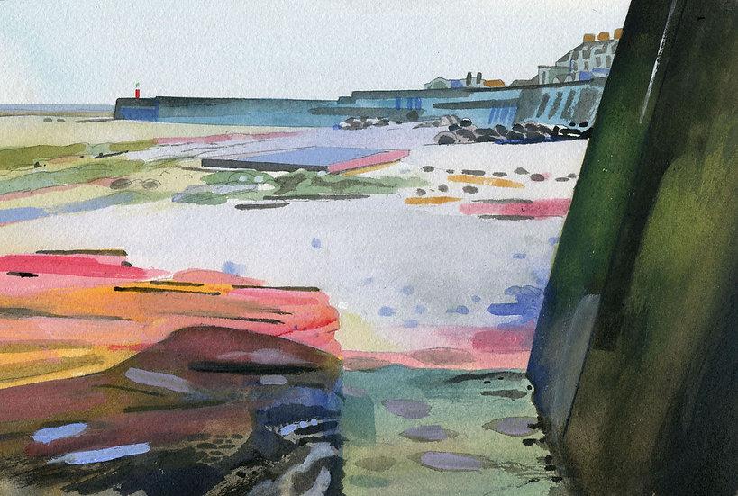 West Beach, Watchet, Original Watercolour Painting