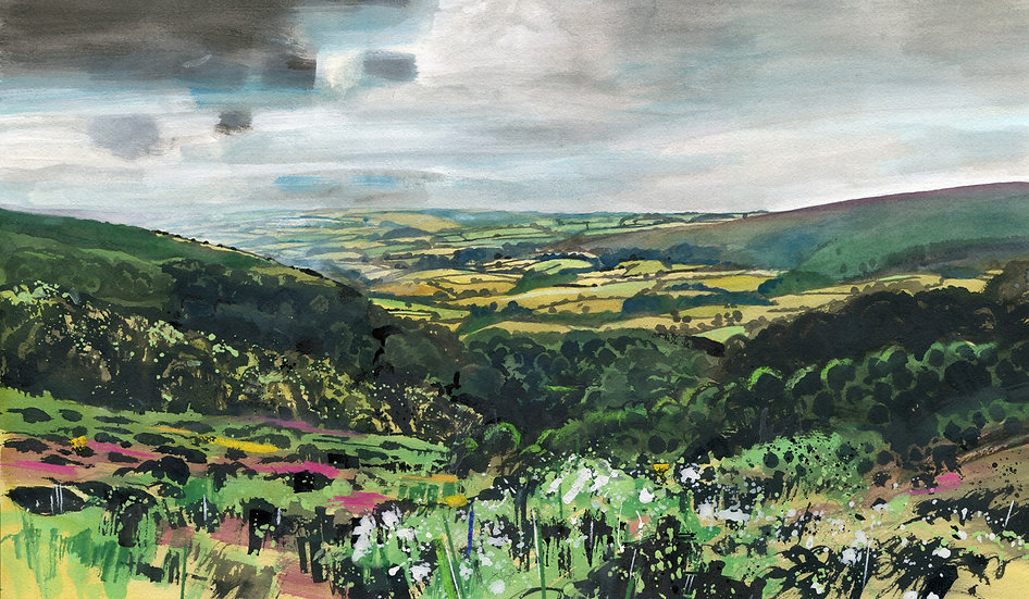 Selworthy Combe, Exmoor, Original Watercolour Painting