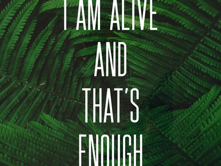 I AM ALIVE & THAT'S ENOUGH