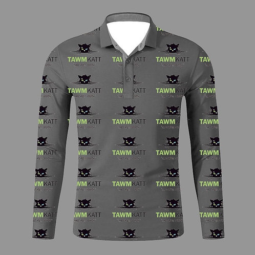 TAWMKATT Long Sleeve Golf Shirt Grey Multi Pattern (COMING SOON!)