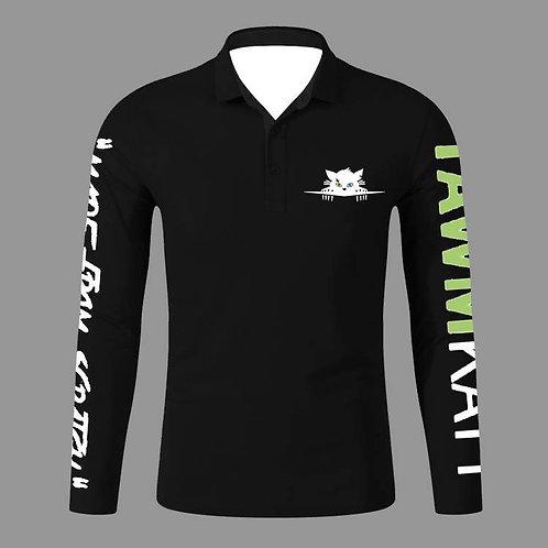 TAWMKATT Long Sleeve Golf Shirt Black (COMING SOON!)