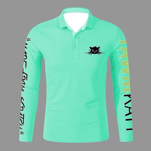 TAWMKATT Long Sleeve Golf Shirt Turquoise                         (COMING SOON!)