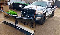 Snow Dogg Plow snow removal truck with p