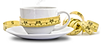 Coffee cup with tape measure