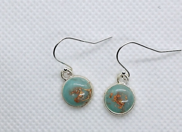 Fire and Ice mini round drop earrings