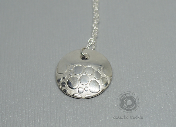 Silver bubbles pendant