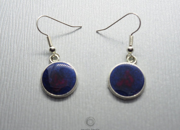Aurora round drop earrings
