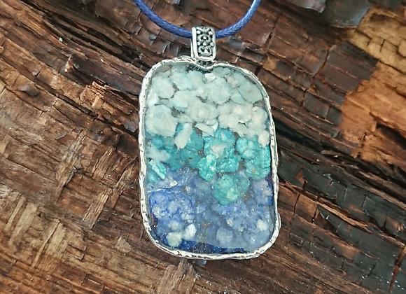 Rectangular Mermaid scales pendant