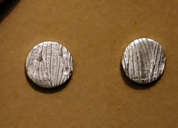 Flowing water stud earrings
