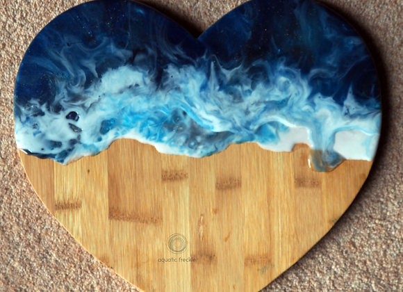 Heart serving board
