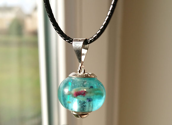 Swimmer bead necklace