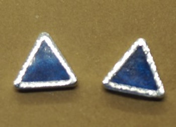 Triangular stud earrings