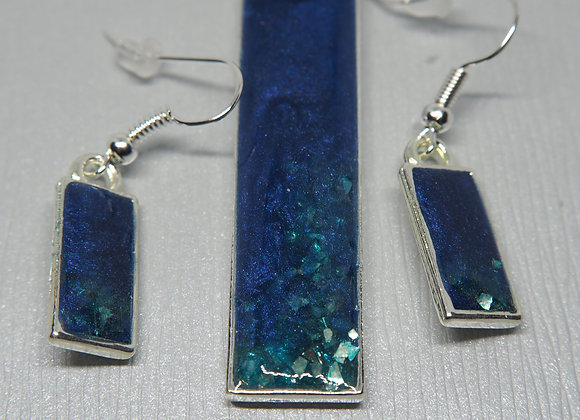 Adriatic waters pendant and earring set