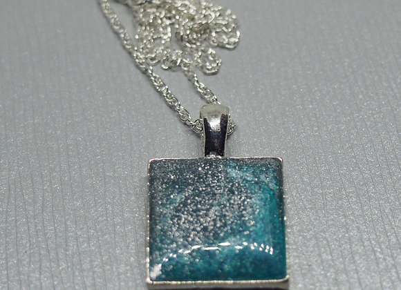 Icy sea resin pendant