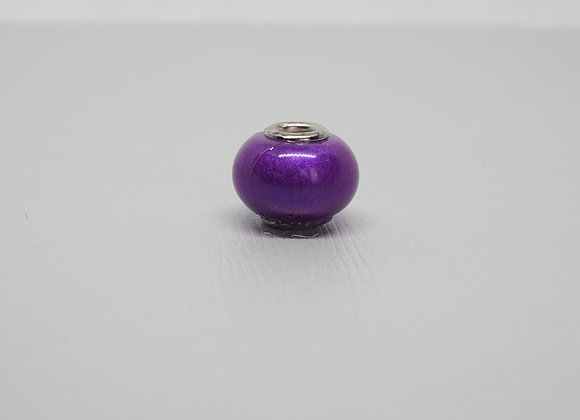 Purple metallic bead