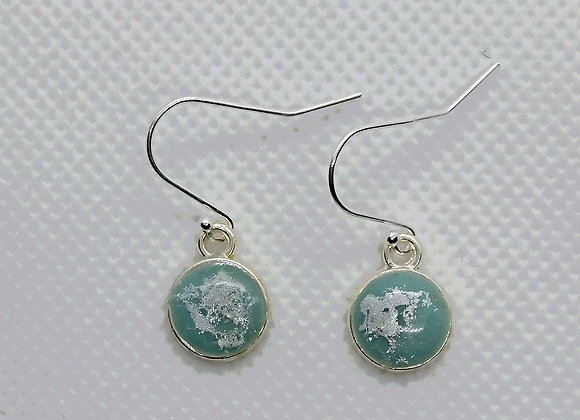 Ice mini round drop earrings