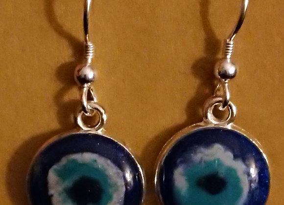 Mati round drop earrings