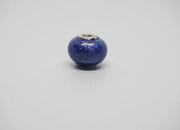 Blue sparkle bead