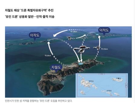 드론전망/인천 섬지역 운항하는 '유인 드론' 시대 열리나_한겨레 발췌