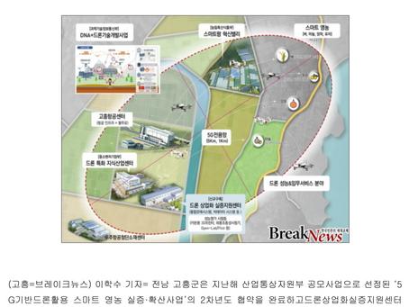 드론전망 / 5G 드론을 활용한 스마트 영농시대에 성큼_브레이크뉴스 발췌