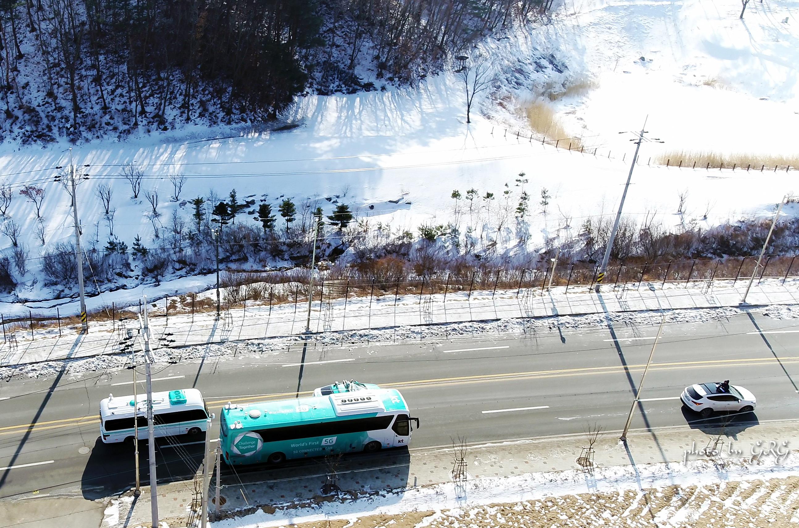 KT 자율주행차량_평창