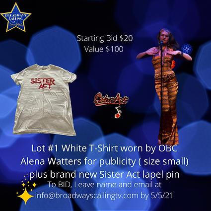 Lot #1 T-Shirt worn by Alena  Watters fo