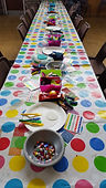 Story Sock Craft table
