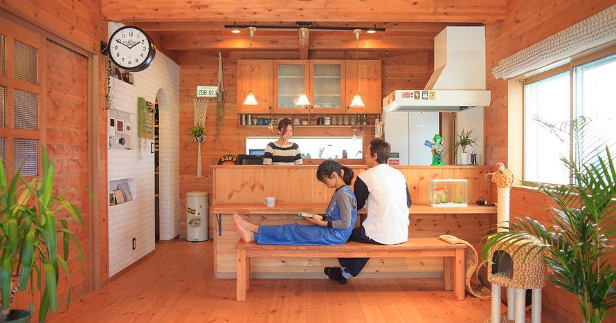 諫早市の工務店スマイフルホームで新築した長崎の注文住宅の平屋リビング