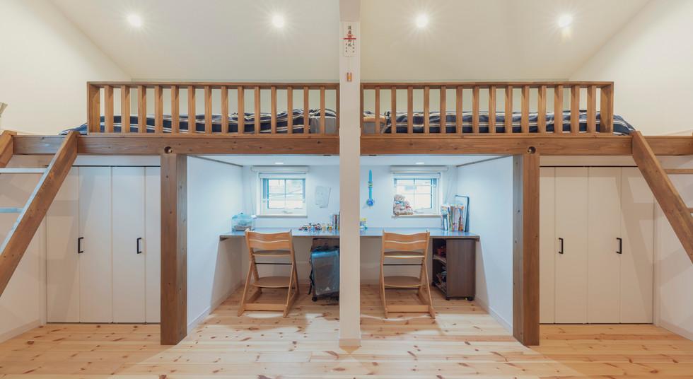 諫早の工務店スマイフルホームで新築した島原の注文住宅のキッズルーム