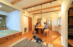 諫早の工務店スマイフルホームで新築した大村市の注文住宅のリビング
