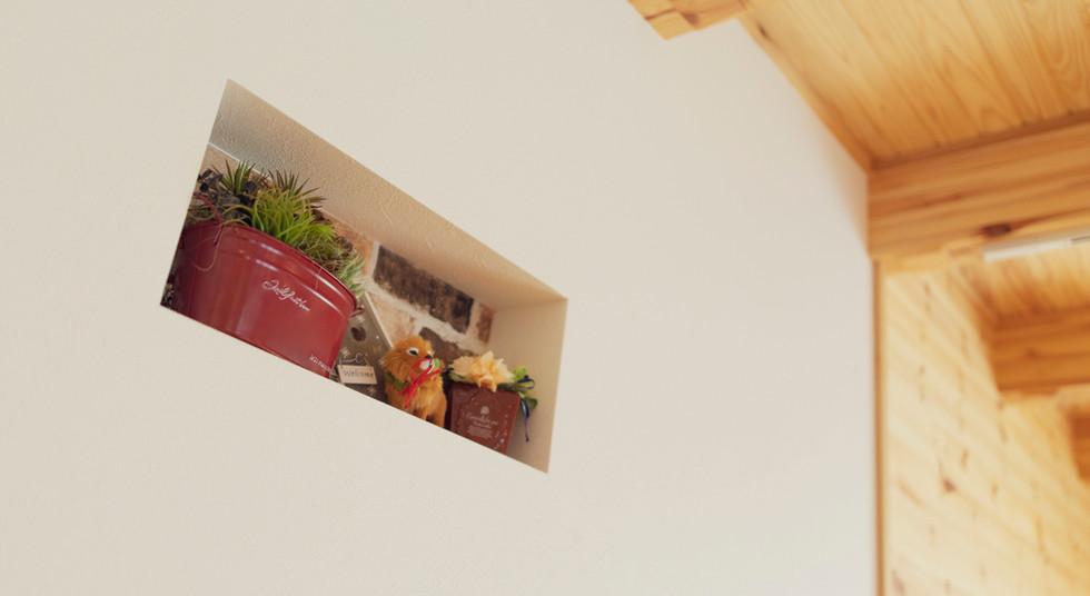 諫早市の工務店スマイフルホームで新築した長崎の注文住宅のニッチ