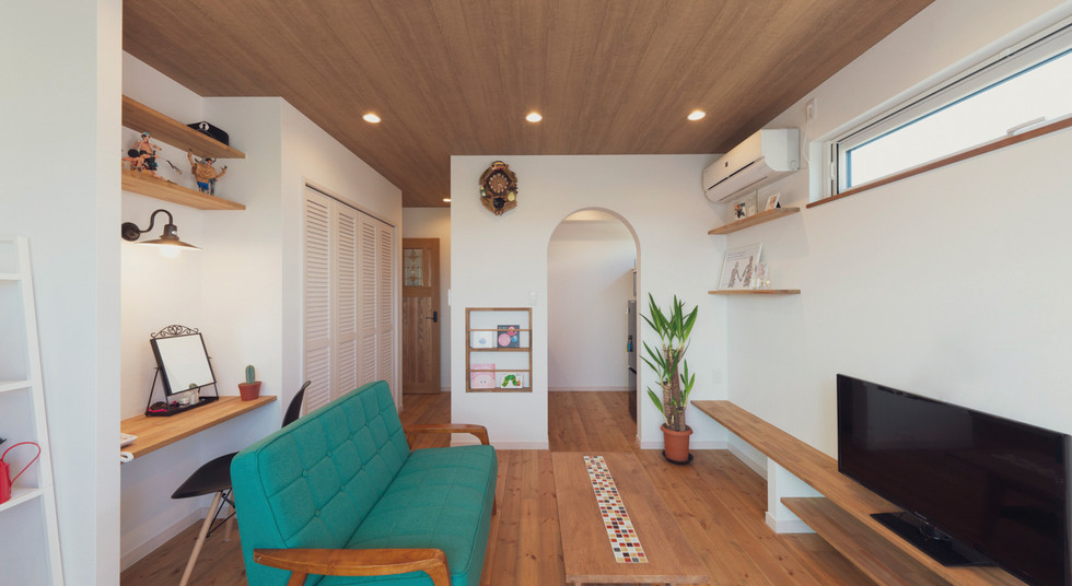 諫早の工務店スマイフルホームで新築した大村の注文住宅の2Fリビング